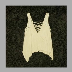 FOREVER 21+ CRISS-CROSS TANK TOP